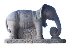 Elephant sculpture Stock Photos