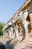 Elephant Sculpture Decorate Royalty Free Stock Photography