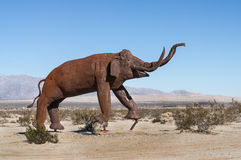 Elephant sculpture in Galleta Meadows Royalty Free Stock Photos
