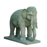 Elephant sculpture isolated on white background Royalty Free Stock Photos