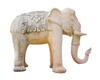 Elephant Sculpture isolated on white background Royalty Free Stock Image