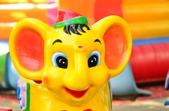 An elephant sculpture on a merry-go-round Royalty Free Stock Image