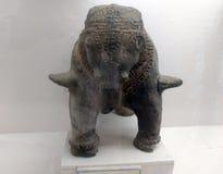 Elephant sculpture. Stone sculpture of elephant Stock Photography