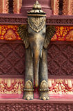 Elephant sculpture at temple in Cambodia Royalty Free Stock Photography