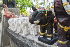 Elephant sculpture to worship in the temple or the place for wor Royalty Free Stock Photography
