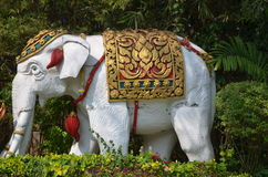 Elephant sculpture. White Elephant sculpture in the park Royalty Free Stock Photo