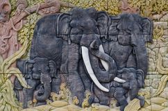 Elephant sculptures. Royalty Free Stock Photos