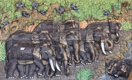 Elephant sculptures Royalty Free Stock Images