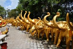 Elephant sculptures at Hat Yai Royalty Free Stock Photography