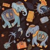 Elephant. Seamless Vector pattern. Stock Photography