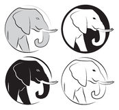 Elephant set royalty free illustration
