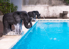 Elephant shaped fountains Stock Photo