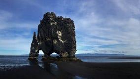 Elephant shaped rock in Iceland Royalty Free Stock Photo
