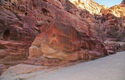 Elephant Shaped Rock - Petra, Jordan Stock Photos