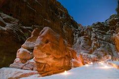 Elephant Shaped Rock - Petra, Jordan Stock Image
