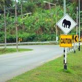 Elephant sign Stock Photo