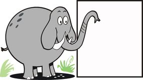 Elephant sign cartoon Royalty Free Stock Images
