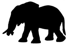 Elephant Silhouette Stock Photography