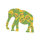 Elephant  silhouette for design fabrics, T-shirts, dishes Royalty Free Stock Image