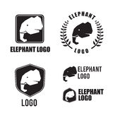 Elephant silhouette logo element, graphic design for logo and br Royalty Free Stock Images