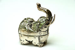 Elephant silver Box Royalty Free Stock Images