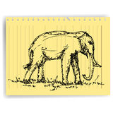 Elephant sketch vector Stock Photos