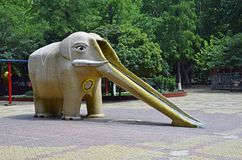 Elephant slide Stock Photo