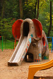 Elephant slide on playground Royalty Free Stock Photography