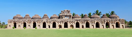 Elephant Stables, Hampi. Ancient ruins of Elephant Stables. Hampi, India stock image