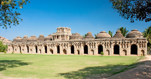 Elephant stables in Hampi, Karnataka Royalty Free Stock Images