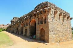 Elephant stables, Hampi, Karnataka, India (UNESCO. World Heritage Site, listed as the Group of Monuments at Hampi) India Royalty Free Stock Photography
