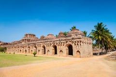Hampi Vijayanagara Empire monuments, India. Elephant Stables, part of the Zanana Enclosures at Hampi, the centre of the Hindu Vijayanagara Empire in Karnataka stock images
