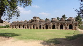 Elephant stables at Vijayanagara Royalty Free Stock Images