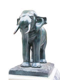 Elephant. An elephant stands guarding on concrete base Stock Photography