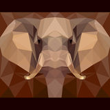 Elephant stares forward. Nature and animals life theme background. Abstract geometric polygonal triangle illustration for design card, invitation, poster Royalty Free Stock Photography