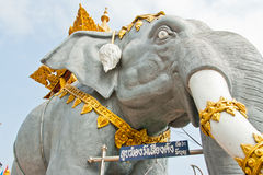 Elephant Statue. Elephant Statue with beautiful jewelry in Thailand Royalty Free Stock Photo