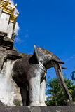 Elephant Statue. Photo of Elephant Concreted Statue at Temple in Thailand Stock Image
