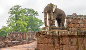 Elephant Statue. In Angkor Complex Stock Photography