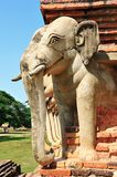 Elephant statue around pagoda Stock Images