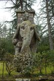 The Elephant Statue Bomarzo Italy Stock Photography