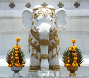 Elephant statue in Buddhist temple Royalty Free Stock Photo