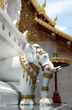 Elephant statue in Buddhist temple in Thailand Stock Photos