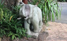 Elephant statue. Elephant statue is craftsmanship in Thailand Stock Photo
