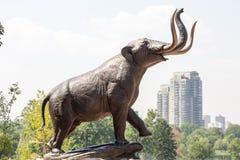 Elephant Statue in Denver Park Royalty Free Stock Photo