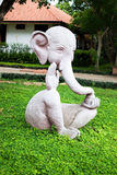 Elephant statue. In the gardem Royalty Free Stock Image