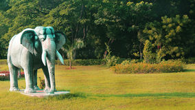 Elephant statue in greenfield Stock Images