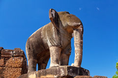 Elephant Statue In Pre Rup Temple Royalty Free Stock Photos