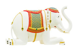 Elephant statue isolate on white Stock Photos