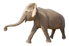 Elephant Statue Isolated On White Royalty Free Stock Photo