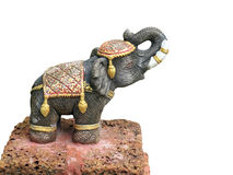 Elephant statue isolated Royalty Free Stock Photos